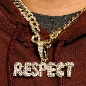 "14k Gold Respect 20"" Cuban Chain + Pendant"
